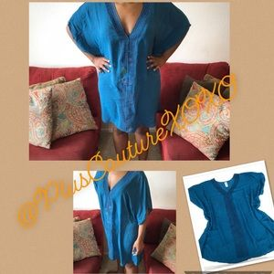 ✨ Teal Swim Cover-Up Plus Size Curvy